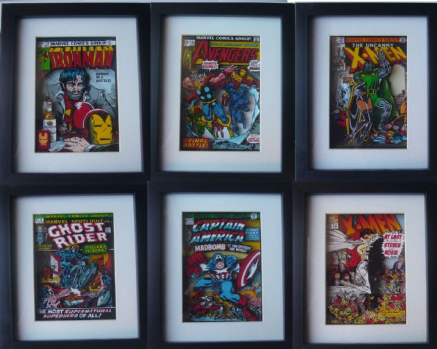 Comic Book Custom ( any cover ever!) 3D Diorama Shadow Box Art